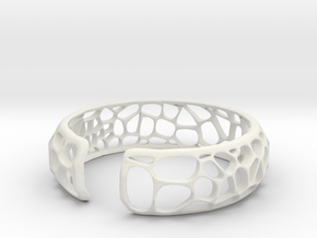 Coral Cuff in White Natural Versatile Plastic