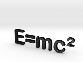 E=mc^2 3D C in Matte Black Steel