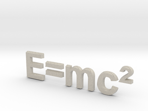 E=mc^2 3D D in Natural Sandstone