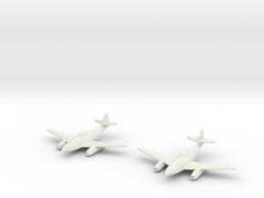 1/144 Messerschmitt Me-262A (x2) in White Strong & Flexible