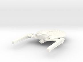 USS Spruance in White Strong & Flexible Polished