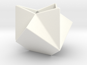 Ruba Rombic Cube Planter in White Strong & Flexible Polished