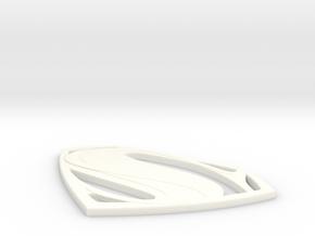 Man Of Steel - Emblem in White Processed Versatile Plastic
