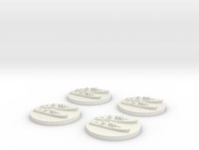Fairmile D x4 1/2400 in White Natural Versatile Plastic