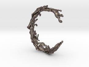 Running Horses Bracelet in Polished Bronzed Silver Steel