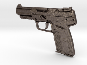 FN Five Seven 5,7mm x 28mm in Polished Bronzed Silver Steel