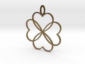 Shakti Flower Pendant in Polished Bronze