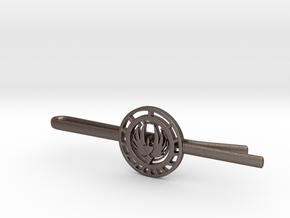 Battlestar Galactica Tie Clip   in Polished Bronzed Silver Steel