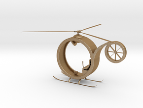 One Man Helicopter in Matte Gold Steel