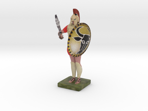 hoplite greek warrior already colored  in Full Color Sandstone