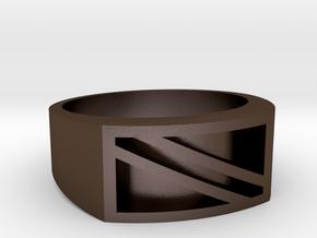 Dive Ring Rev 2 in Polished Bronze Steel