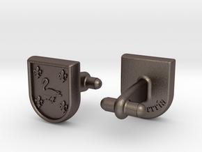 Heraldic Cufflinks (Echeverría) in Stainless Steel