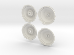 1/8 scale Brakedrum Set Of 4 in White Strong & Flexible