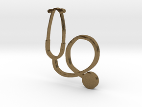stethoscope in Natural Bronze