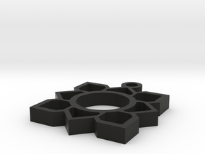 lotus design in Black Natural Versatile Plastic