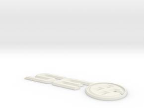 SouthEast86 Trunk Badge in White Natural Versatile Plastic