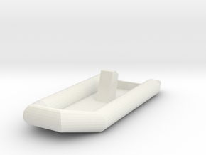 Zodiac Boat 1:100 (type 2) in White Natural Versatile Plastic