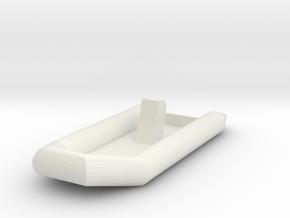Zodiac Boat 1:100 (type 2) in White Natural Versatile Plastic