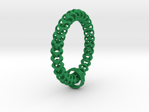 Cubichain Bracelet (Multiple sizes) in Green Strong & Flexible Polished: Extra Small