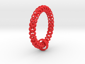 Cubichain Bracelet (Multiple sizes) in Red Strong & Flexible Polished: Extra Small