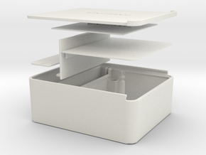 Tabaco box in White Natural Versatile Plastic