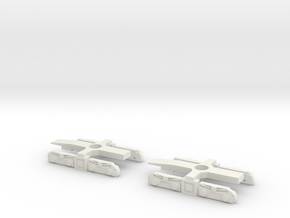 N Gauge Kirow Crane Bogies in White Natural Versatile Plastic