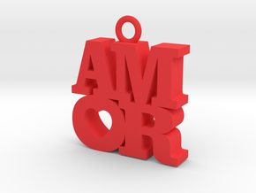 AMOR-dije in Red Processed Versatile Plastic