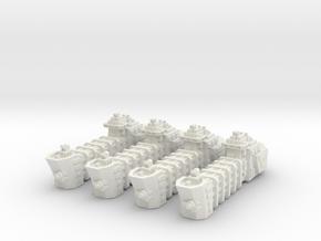 BFG Troop Ships (x4) in White Natural Versatile Plastic