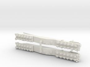 1/600 K5E Railway Gun 'Leopold' or 'Anzio Annie' in White Natural Versatile Plastic