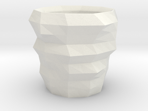 PolyLittleCup Revised Print in White Natural Versatile Plastic