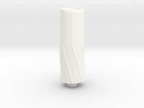 Big Bore Drip Tip in White Processed Versatile Plastic