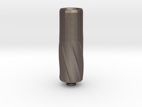 Big Bore Drip Tip in Polished Bronzed Silver Steel