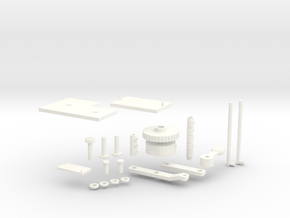 1:6 Scale Huey Centre Console Assembly Parts in White Processed Versatile Plastic