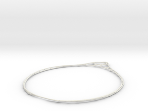 Minimalist Bracelet  in White Natural Versatile Plastic