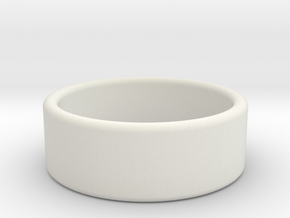 7 1/2 Blank Band in White Strong & Flexible