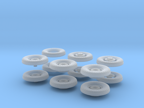 1:35 Scale 18 24 240mmgun Wheels in Frosted Ultra Detail