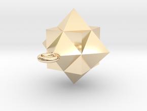 Gamma Star Ornament in 14K Yellow Gold