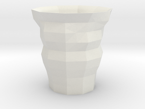 Polygon Cup in White Natural Versatile Plastic