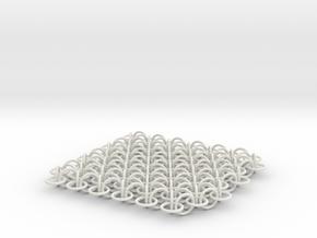 2D Chain Mail, 2cm deep version in White Natural Versatile Plastic