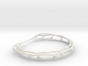 Fractal Wire Bracelet in White Natural Versatile Plastic