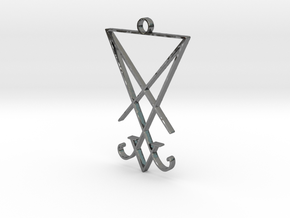 Lucifer's Sigil in Fine Detail Polished Silver