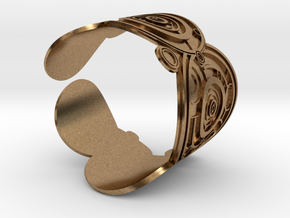 The Doctor's name (Embossed): Cuff in Natural Brass: Extra Small