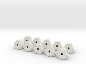 1-72 10x Cargo Module in White Natural Versatile Plastic