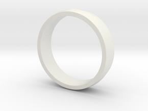 Ridged Ring in White Natural Versatile Plastic