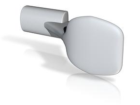 short handle v3 (No Screw hole yet!) in White Natural Versatile Plastic