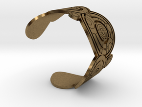 The Doctor's name: (Engraved) Cuff - size XL in Natural Bronze