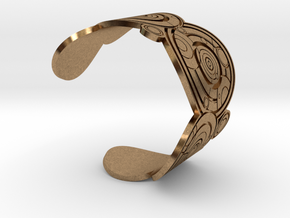 The Doctor's name: (Engraved) Cuff - size XL in Natural Brass