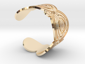 The Doctor's name (Engraved): Cuff - size L in 14K Yellow Gold