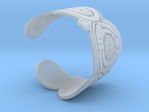 The Doctor's name (Engraved): Cuff - size M in Smooth Fine Detail Plastic
