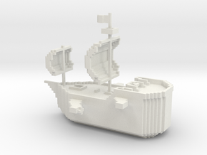 PlusCraft Admin Ship in White Natural Versatile Plastic